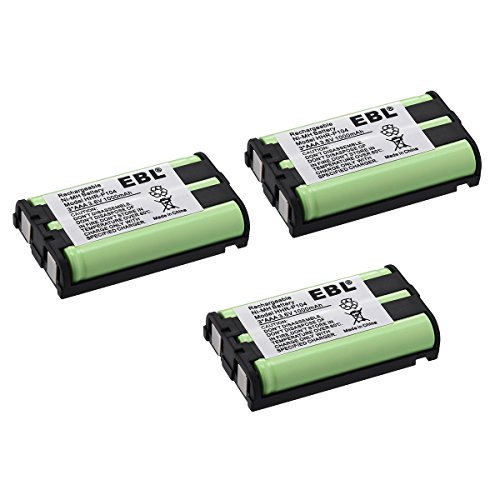 EBL HHR P104 HHR-P104A Panasonic Replacement Battery 3.6V Home Cordless Phone Batteries Rechargeable Batteries 3 Pack