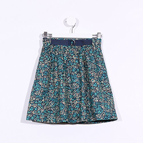 Floral Limited Print Edition (Marc & Molly's Limited Edition Girls Pull-up Skirt (Green Floral Print, 12))
