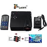 Lucem Portable 3D LED PROJECTOR+Three 3D Glasses + Three 3D Movies