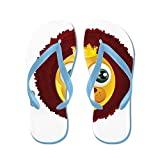 Truly Teague Kid's SmileyFace Zodiac Leo Caribbean Blue Rubber Flip Flops Sandals 1-4