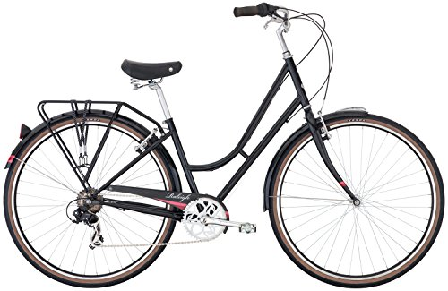 Raleigh Bikes Superbe Women's Classic City Bike, Black, 42cm/Small