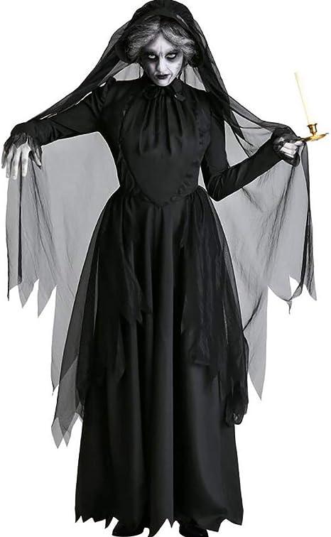 SHANGXIAN Halloween Disfraz Scary Zombie Nun Bloody Ghost Bride ...