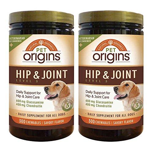 Pet Origins Hip & Joint Level 3 Chewable Tablets 300-count 2-pack