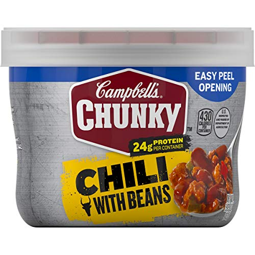 Campbell's Chunky Chili with Beans, 15.25 oz. Microwavable Bowl