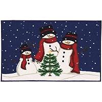 Nourison Accent Rug CJ245 3 Snowmen Multicolor 3 Snowmen 15 x 24,Multicolor