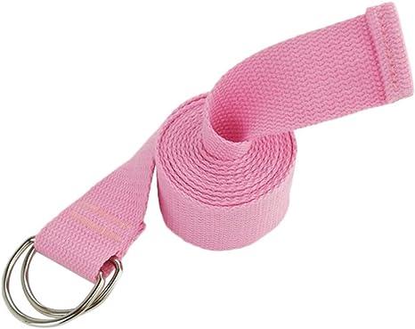 Dylandy Hebilla Correa de Yoga Durable Algodón Ajustable Cinturón Sostener Poses Mujer, Rosa: Amazon.es: Deportes y aire libre