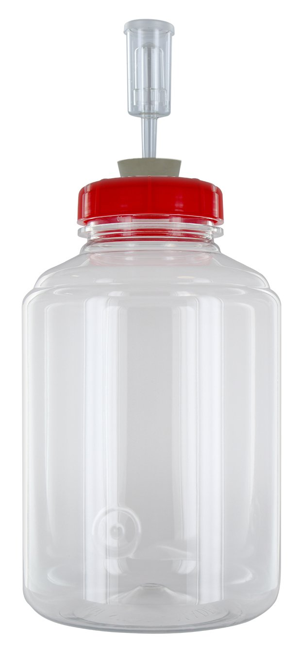 FerMonster Three Gallon Fermenter Wide Mouth Carboy, Econolock And #10 Stopper