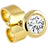 Diamond Line Herren - Ohrstecker 585er Gold 1 Diamant