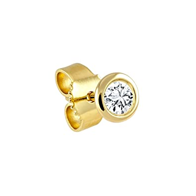 Ohrstecker gold  Diamond Line Herren - Ohrstecker 585er Gold 1 Diamant ca. 0,05 ct ...