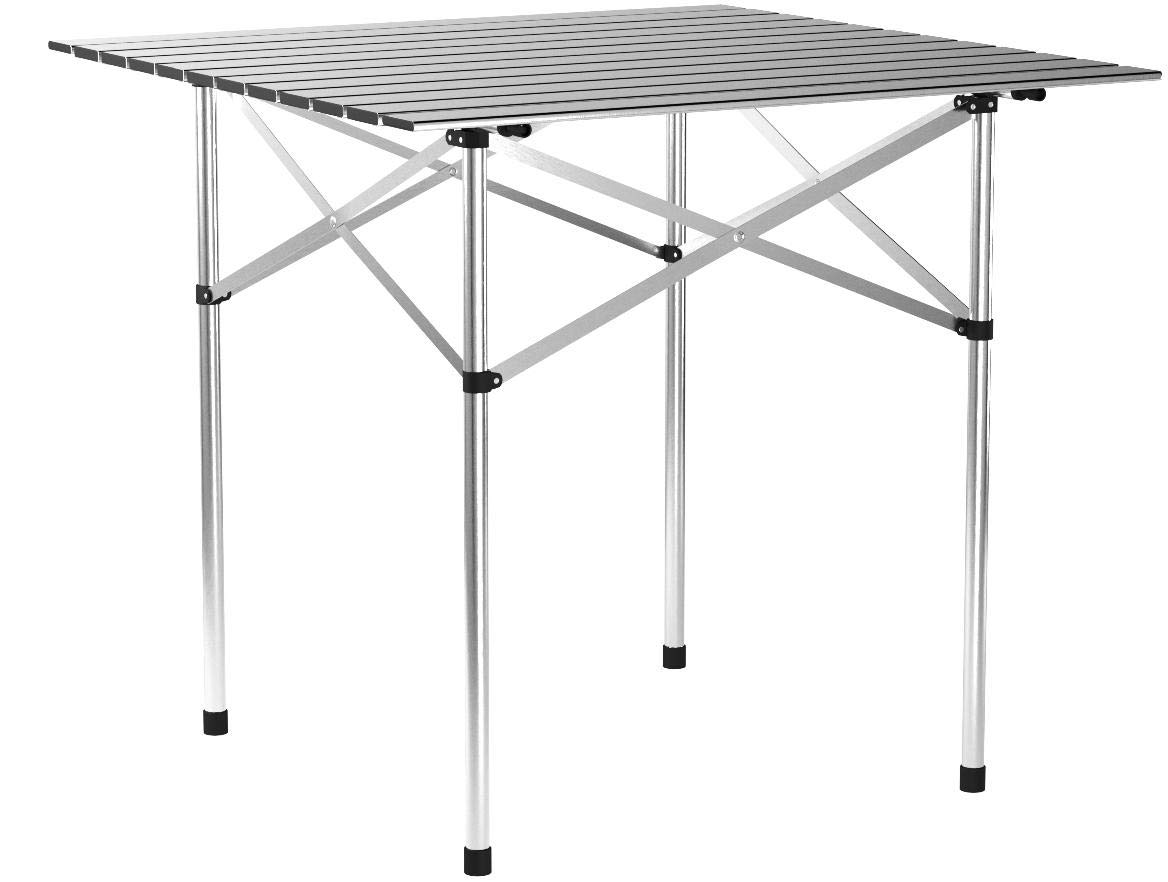 Roll Up Portable Folding Camping Square Picnic Table w/Bag New Aluminum 28''x28''