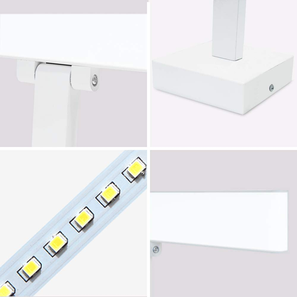 Ikakon Modern Vanity Lights Bathroom Wall Lights Aluminum Vanity Lamp 16W White by Ikakon (Image #5)
