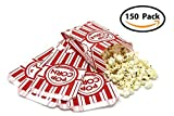 Popcorn Bags - Classic Disposable Toxic-Free Paper Bags for Movie Night, Cinema or Other Event - Fresh Popcorn Served Warm   Food-Grade & Oil-Proof (150, 2 oz)