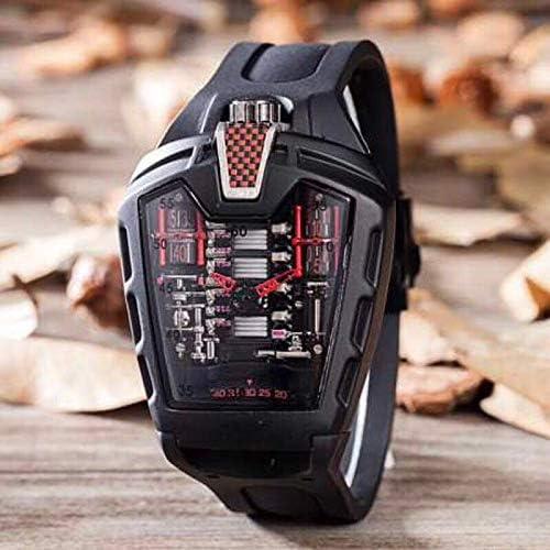 IWHSB Relojes de Pulsera automáticos de Marca Hombre Cuarzo Acero Inoxidable Vidrio Trasero Caucho Plata Rosa Oro Deportes Relojes Impermeables Reloj para Hombre