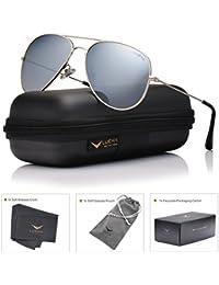 luenx anteojos de sol Aviator Polarizadas para hombres & mujeres con lentes Caso–UV 400
