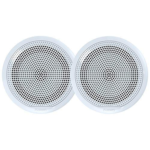 Fusion El-F651w El Series Full Range Shallow Mount Marine White Speakers - 6.5