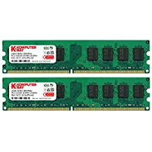 Komputerbay 4GB 2X 2GB DDR2 800MHz PC2-6300 PC2-6400 DDR2 800 (240 PIN) DIMM Desktop Memory