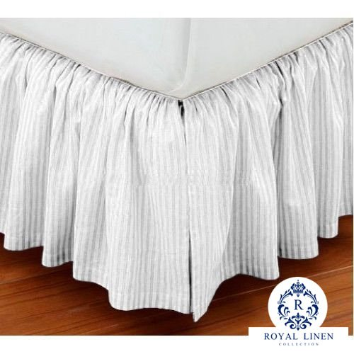 Royal Linen Collection Hotel Quality 800TC Pure Cotton Dust Ruffle Bed Skirt 14