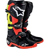 Alpinestars Tech 10 Boots-Black/Red/Yellow-9