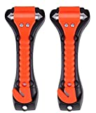 Car Safety Hammer Set of 2 Emergency Escape Tool Auto Car Window Glass Hammer Breaker and Seat Belt Cutter Escape 2-in-1 for Family Rescue & Auto Emergency Escape Tools