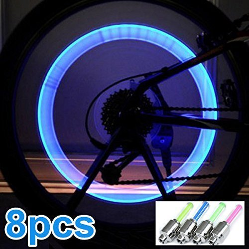 8pcs Bike Bicycle LED Wheel Lights Valve Lamp Valve Core Light