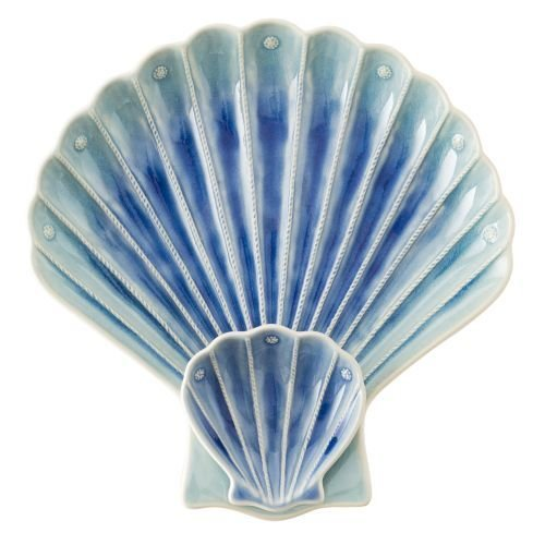 Berry & Thread Delft Ombre Crackle ''Shell'' Appetizer Server
