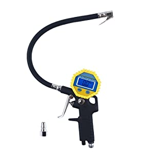 Digital Electric Tyre Inflator with Hose and Gauge for Air Compressor