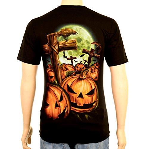 Happy Halloween Pumpkin - Rock Eagle T-Shirt Glow in the Dark Nightmare