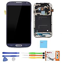 WeFix LCD + Touch Screen Digitizer + Frame Assembly for Samsung Galaxy S4 i337 AT&T M919 T-Moblie Blue Black