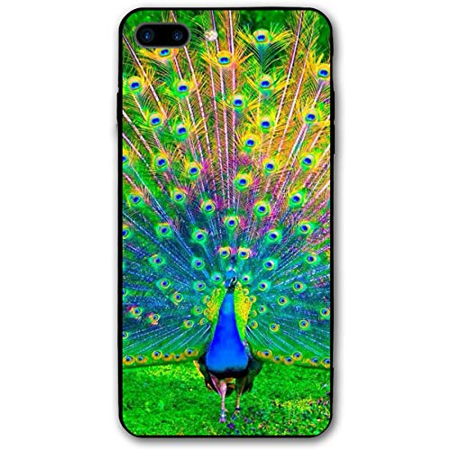 iPhone 7 Plus Case/iPhone 8 Plus Case Beauty Peacock Soft Rubber Cover Lightweight Slim Printed Protective Case