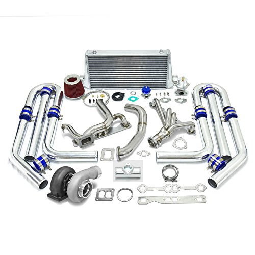High Performance Upgrade GT45 T4 10pc Turbo Kit - Chevy Small Block SBC Engine (Turbocharger Vortec compare prices)