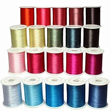 threadnanny 20 de bobinas de hilo de poliéster bordado hilos para para máquina de coser: Amazon.es: Hogar