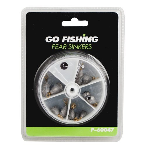 Go Fishing 12 Pear Sinkers. Ideal for All Types of Sea and River Bed Fishing Can Be Used As a Plumb