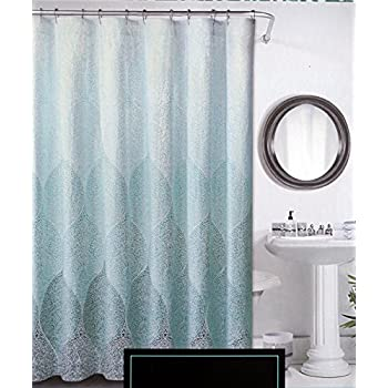 Amazon Com Interdesign Ombre Print Shower Curtain Blue Green Home Amp Kitchen