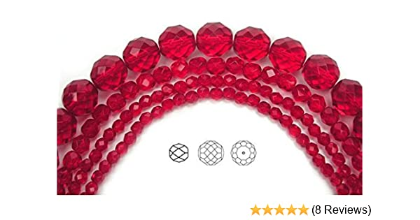 16 Inch Strand Preciosa Czech Fire Polished Glass Faceted Round Beads 8mm