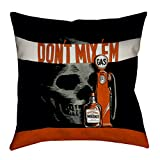 ArtVerse Katelyn Smith Faux Linen Double Sided Print with Concealed Zipper Vintage Anti-Drunk Driving Poster Pillow, 16'' x 16''