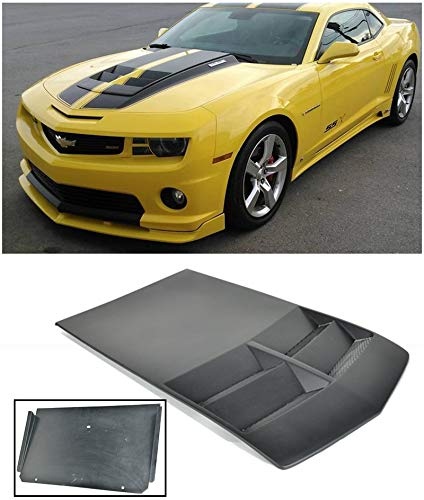 Extreme Online Store for 2010-2015 Chevrolet Camaro LT LS RS SS | EOS ZL1 Style TL1 Fiberglass Primered Black Heat Extractor Hood Insert