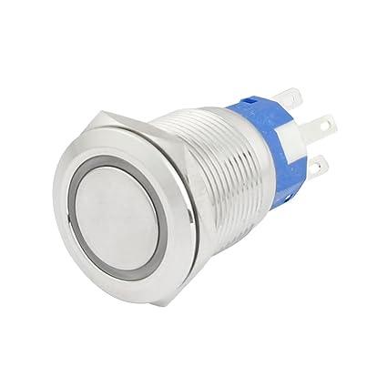 19mm 24VDC Verde sonido LED Luz Acero Inoxidable de Cierre ...