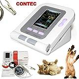 CONTEC08A-VET Digital Veterinary Blood Pressure Monitor NIBP Cuff,Dog/Cat/Pets (CONTEC08A-VET with Neonatal Cuff& Vet spo2 Probe)