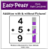 Addition with and without Pictures! (Easy-Peasy Math Flash Card Series)