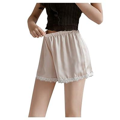ANJUNIE Women's Wide Leg Boxer Underpant Pants Plus Size Safety Shorts Home Pants: Clothing