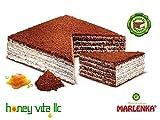 Six Layer Anniversary Birthday Cake - MARLENKA- Cocoa honey cake