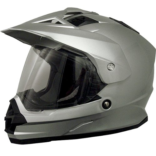 AFX FX-39DS Dual Sport Motorcycle Helmet Silver DS (2X-Large 0110-2459)