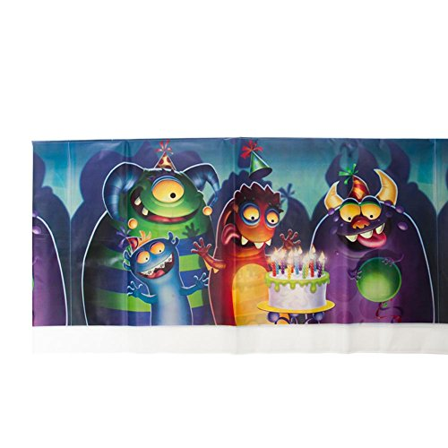 Party Mania Costumes (Monster Mania Plastic Tablecover Party Accessory by Creative Converting)