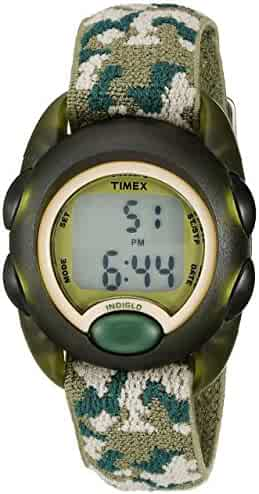 Timex Boys T71912 Time Machines Digital Green Camouflage Elastic Fabric Strap Watch