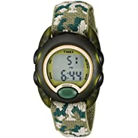 Kids T71912 Green Camouflage Digital Watch with Elastic Fabric Strap