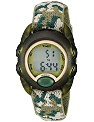Timex Kids T71912 Green Camouflage Digital Watch with Elastic...