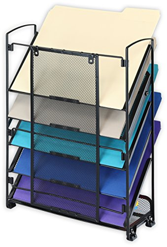 SimpleHouseware 6 Tier Wall Mount Document Letter Tray Organizer, Black by Simple Houseware (Image #2)