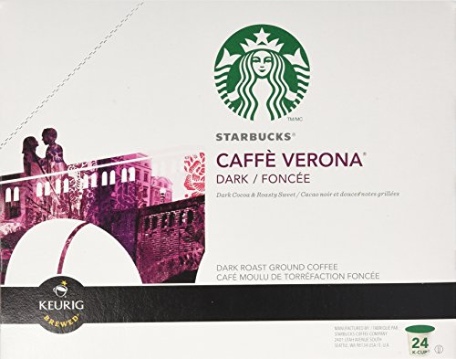 Starbucks Caffe Verona Dark, K-Cup for Keurig Brewers, 24 Count (Italian Roast K Cups Starbucks compare prices)
