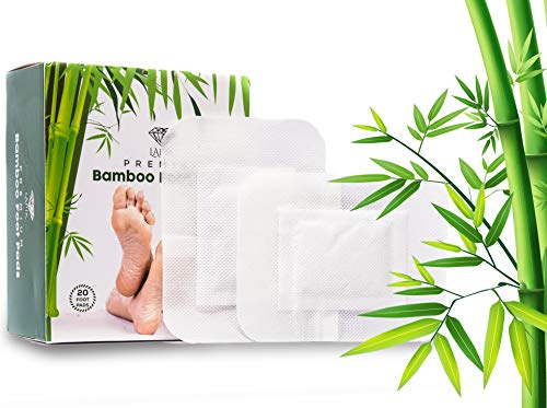 (Foot Pads - Remove Impurities, Body Cleansing, Pain & Stress Relief, Improve Sleep, 100% Organic 20pcs)