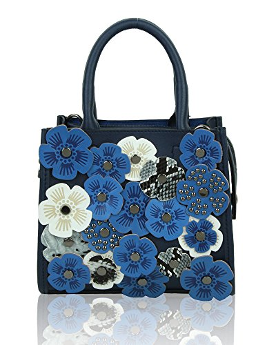 New Pattern Women Bag Shoulder fashion Style Top Floral Navy Messenger Handbag Handle FrFwOAx